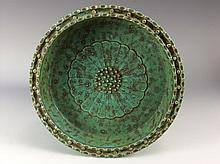 Fine Chinese porcelain plateflambe glazed, marked