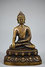 Fine Chinese bronze sculpture of Buddha