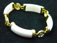 CHINESE IVORY BRACELET WITH LUCKY WORDS