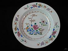 ANTIQUE CHINESE FAMILLE ROSE 18TH C. DEEP SOUP DISH