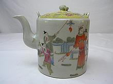 ANTIQUE CHINESE FAMILLE ROSE CHILDREN TEAPOT TONGZHI