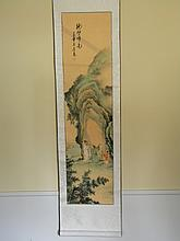 CHINESE SCROLL PAINTING ABOUT DRAWING
