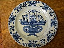 1662-1722 CHINESE EXPORT BLUE AND WITE PLATE