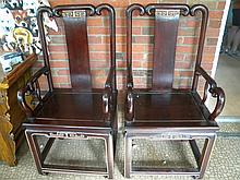 PAIR OF CHINESE ANTIQUE ROSEWOOD CHAIRS