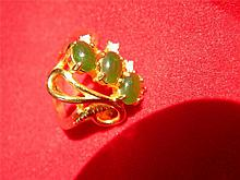 ANTIQUE Vintage CHINESE GREEN NEPHRITE JADE RING