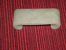 CHINESE ANTIQUE WHITE JADE INK BED