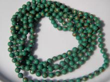 Natural Green Stone Bead Necklace