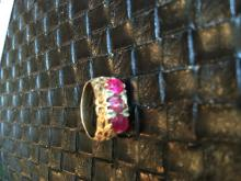 Antique Ruby Silver Filigree Ring