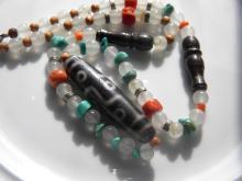Antique Tibetan Dzi Bead Necklace