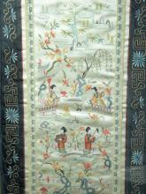 Antique CHINESE FRAMED EMBROIDERY BIRD AND FLOWER
