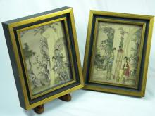 Pair of Chinese Beauty Paintings