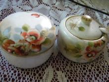 ANTIQUE JAPANESE Nippon set, covered bowl and sugar bow