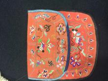 Antique Chinese Red Embroidery Purse
