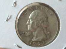 Year 1957 Liberty Silver Quarter