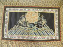 CHINESE QING DYNASTY EMBROIDERY FLOWER