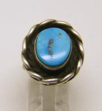 PA Navajo sterling silver turquoise ring