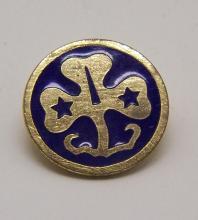 vintage pink rose gold tone enamel brooch pin