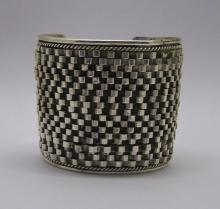 bold sterling silver arm cuff bracelet