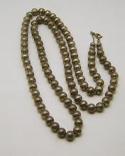 vintage sterling silver 8mm bead necklace