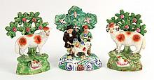 Three English Staffordshire Porcelain Figures, 20thC., N3HNC