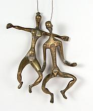 Brass Two-Figure Mobile, 20th C., N3HNH