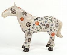 Chinese Porcelain Figure of a Horse, 20thC., N3HNB