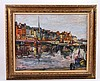 Oil on Canvas, Canal Scene, Arbit Blatas (Lithuanian, 1908 - 1999), N3HNH, Arbit Blatas, $0