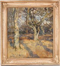 Oil on Canvas, Trees, Soren Christensen