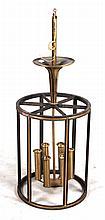Patinated Metal Six-Light Hall Lantern