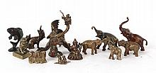 Group of Bronze and Brass Animal Figures