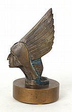 Bronze Native American Car Mascot