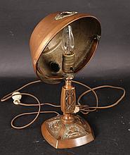 Arts & Crafts Copper Desk Lamp