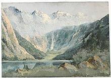 Oil on Canvas Mountain Landscape