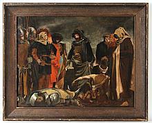 Oil on Canvas, Crusade Battle Scene