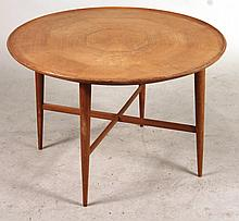 Contemporary Maple Round Occasional Table