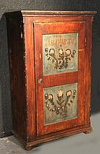 Paint-Decorated Pine Cabinet, Continental