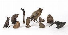 Group of Miniature Bronze Bird Figures