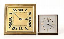 French Art Deco Bronze Desk Clock