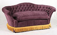 Contemporary Purple-Upholstered Settee