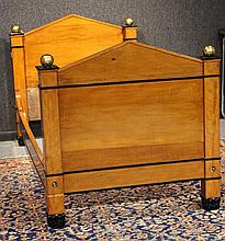 Biedermeier Part-Ebonized Cherrywood Bedstead