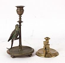 Bronze Bird Figure Candlestick