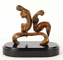 Bronze Revolving Sculpture, Seated Couple