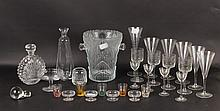 Group of Glass Table Articles and Stemware