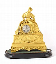 Neoclassical Gilt Bronze Mantle Clock