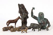 Two Bronze Primitive Men