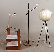 Three Modern Floor Lamps