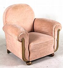 Contemporary Gold-Painted Club Chair