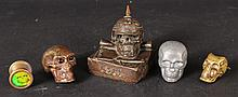 WWI Germany Skull with Spike Helmet Bronze, 1914
