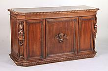 Baroque Style Carved Walnut Low Cabinet