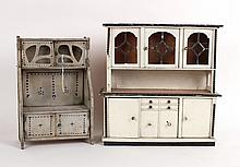 Two Doll House Furniture Cupboards
